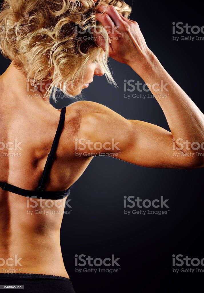 athlete with a beautiful body stock photo
