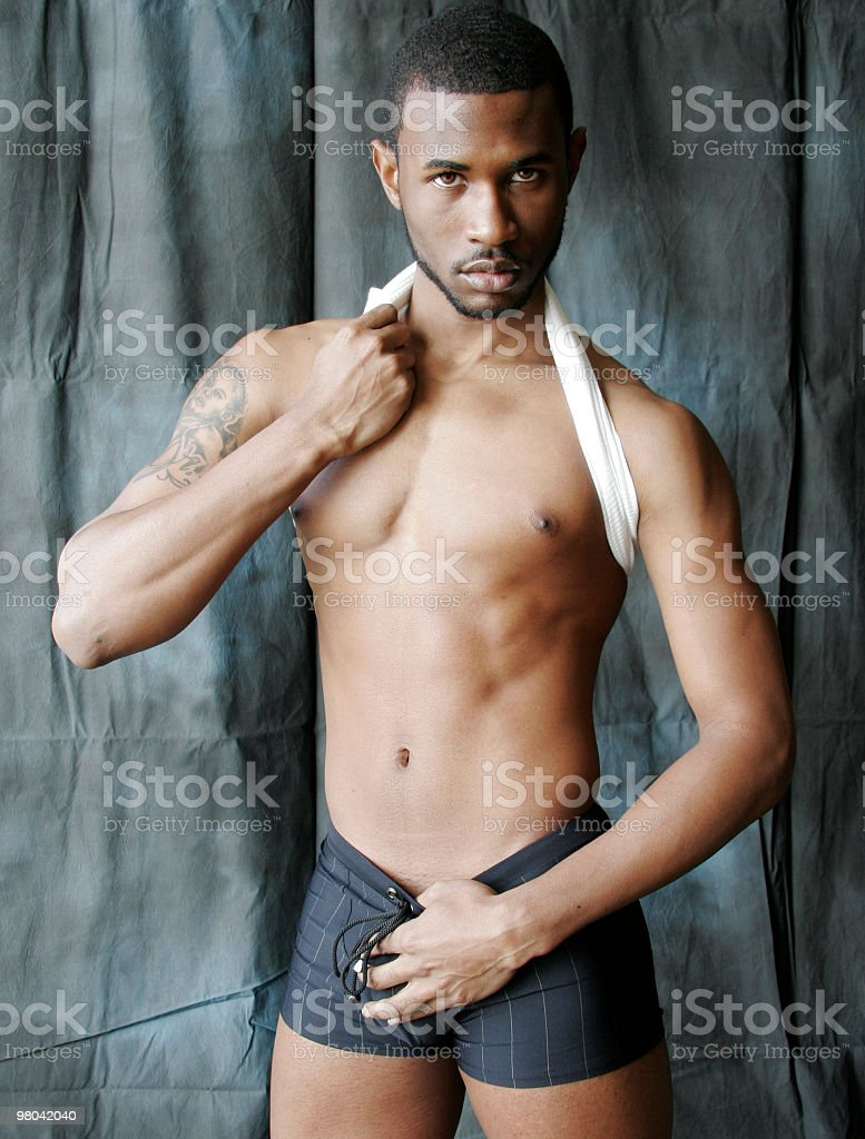 Athlete with Muscle Tone royalty-free stock photo