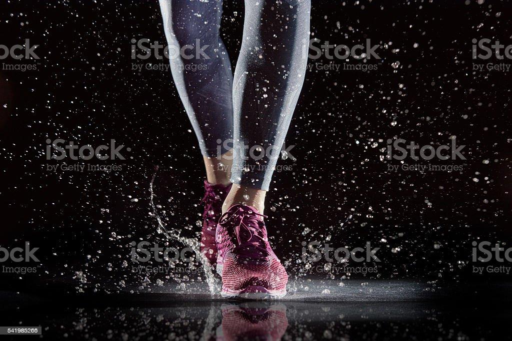 athletes foot close-up. stock photo