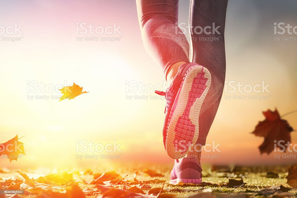 athlete's foots close-up stock photo