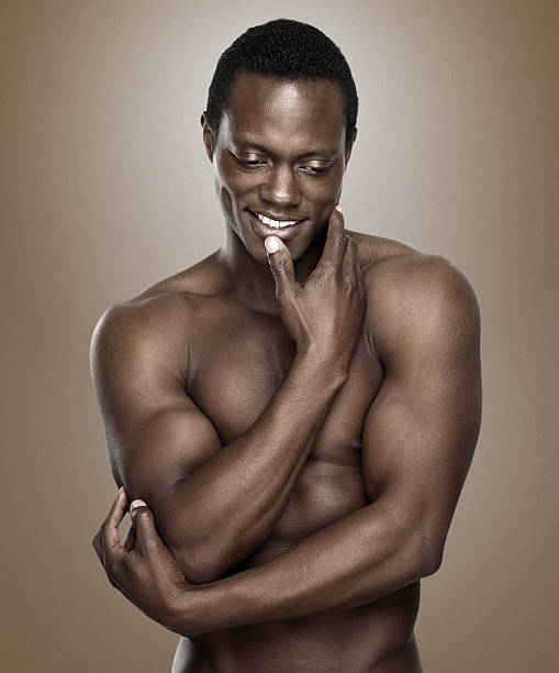 Handsome Naked Black Men Stock Photos, Pictures & Royalty