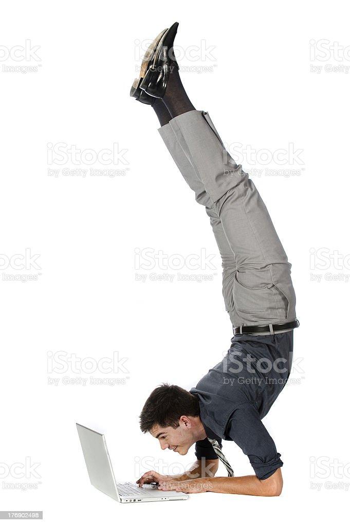 Athletic Businessman stock photo