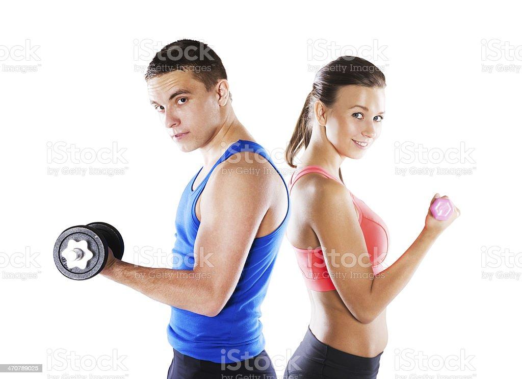Hombre y mujer atlética - Foto de stock de Deporte libre de derechos