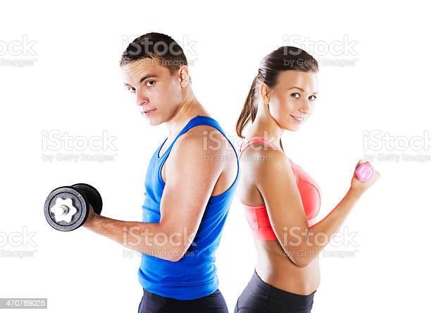 Hombre Y Mujer Atlética Foto de stock y más banco de imágenes de Deporte