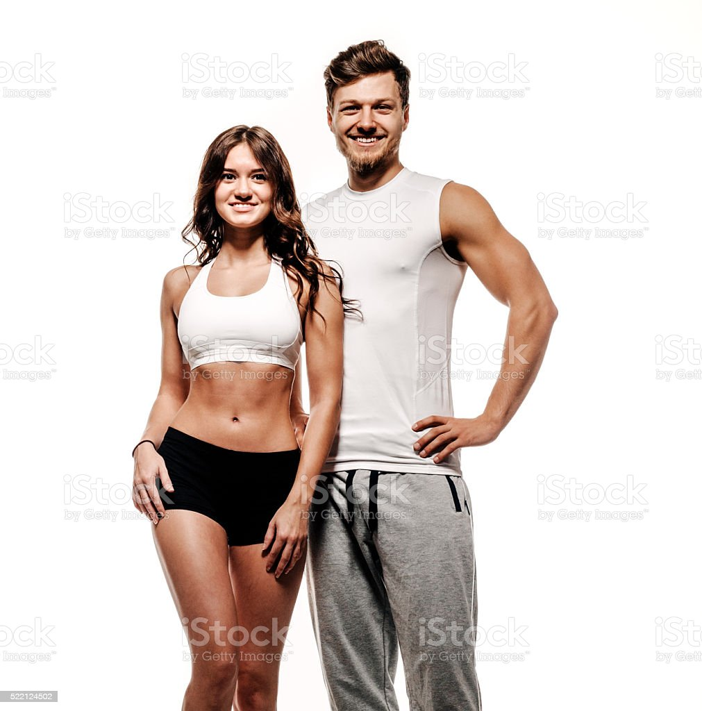 Athletic couple stock photo