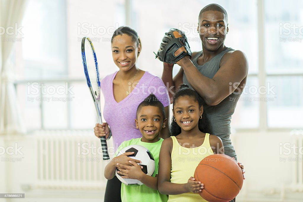 Athletic Family royalty-free stock photo