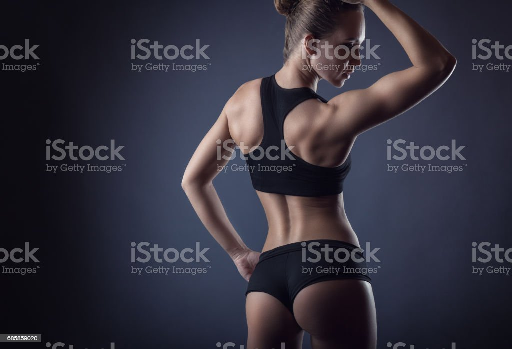 Athletic figure stock photo