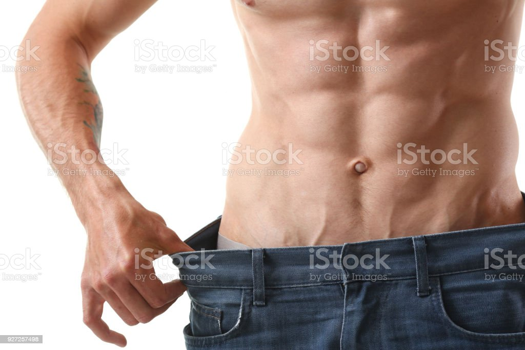 nackt und schlank