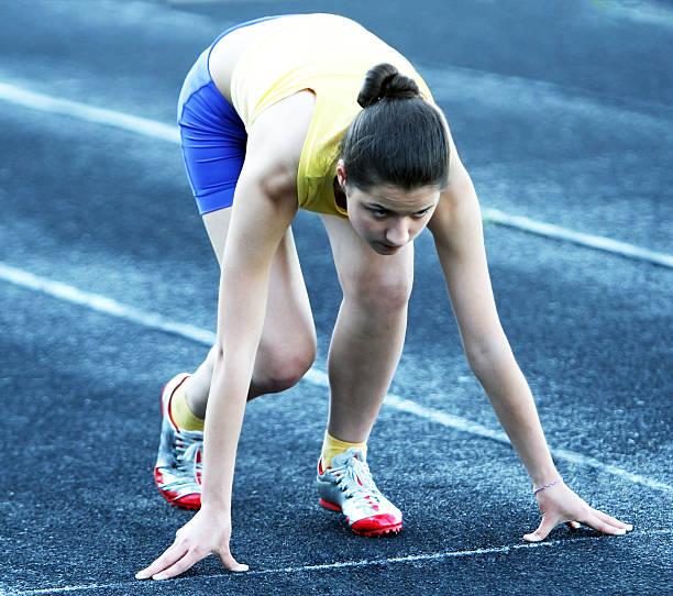 Athletic girl stock photo