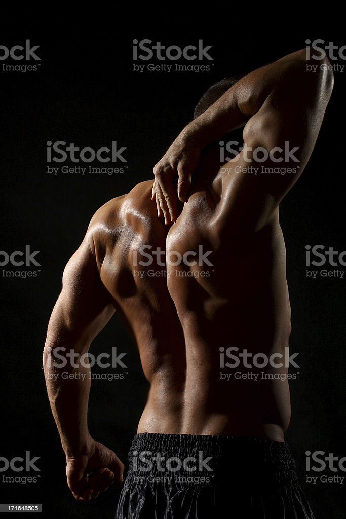 Athletic male. royalty-free stock photo