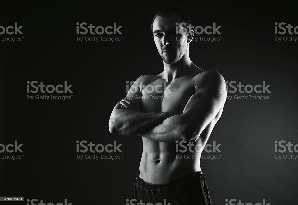 Athletic male royalty-free stock photo