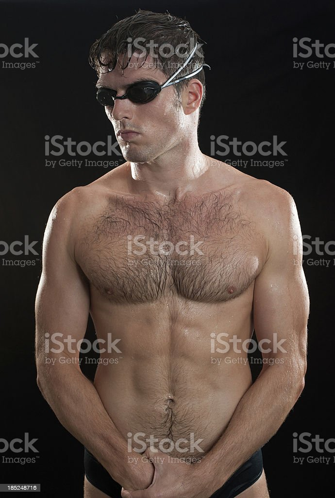 Athletic Male Swimmer stock photo