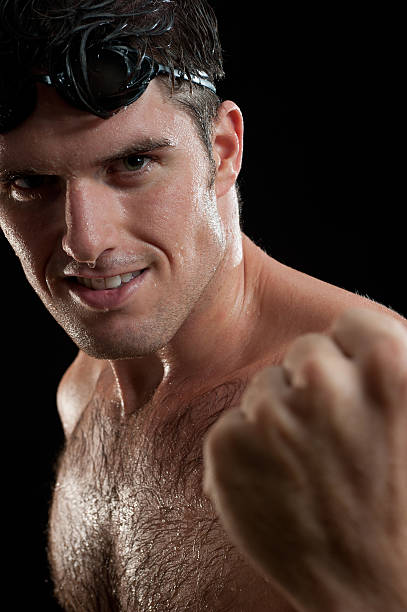 Sportlichen Mann Schwimmer Porträt – Foto