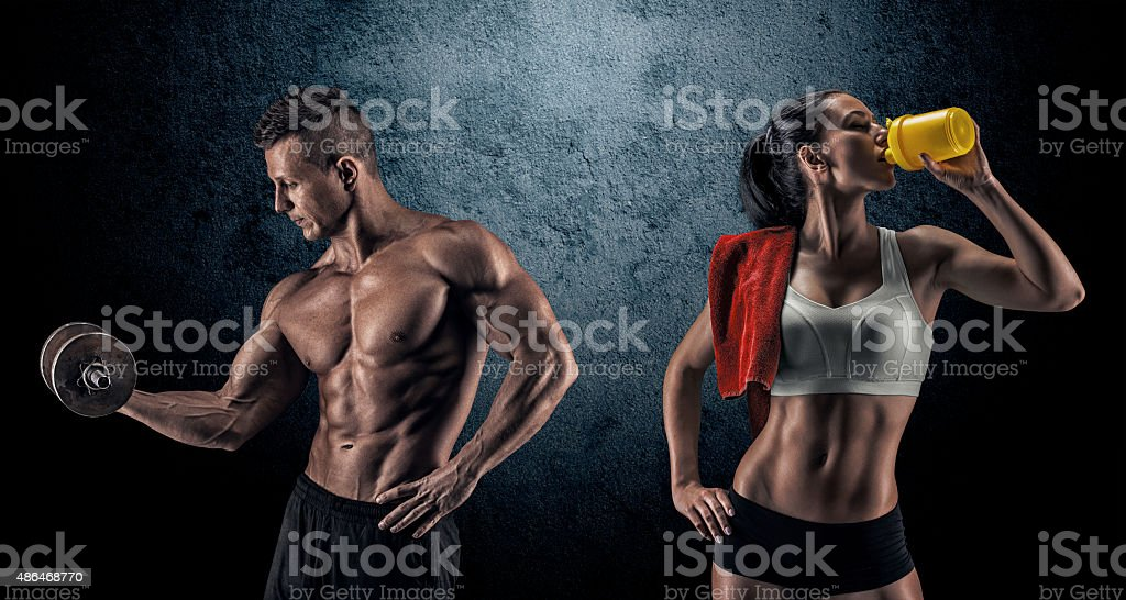 Atletica uomo e donna - foto stock