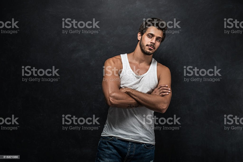 Athletic man stock photo