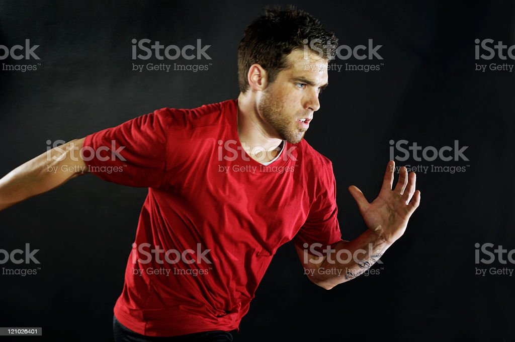 Athletic Man running royalty-free stock photo