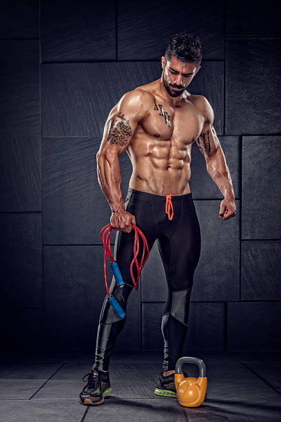 Athletic Men After Workout stock photo