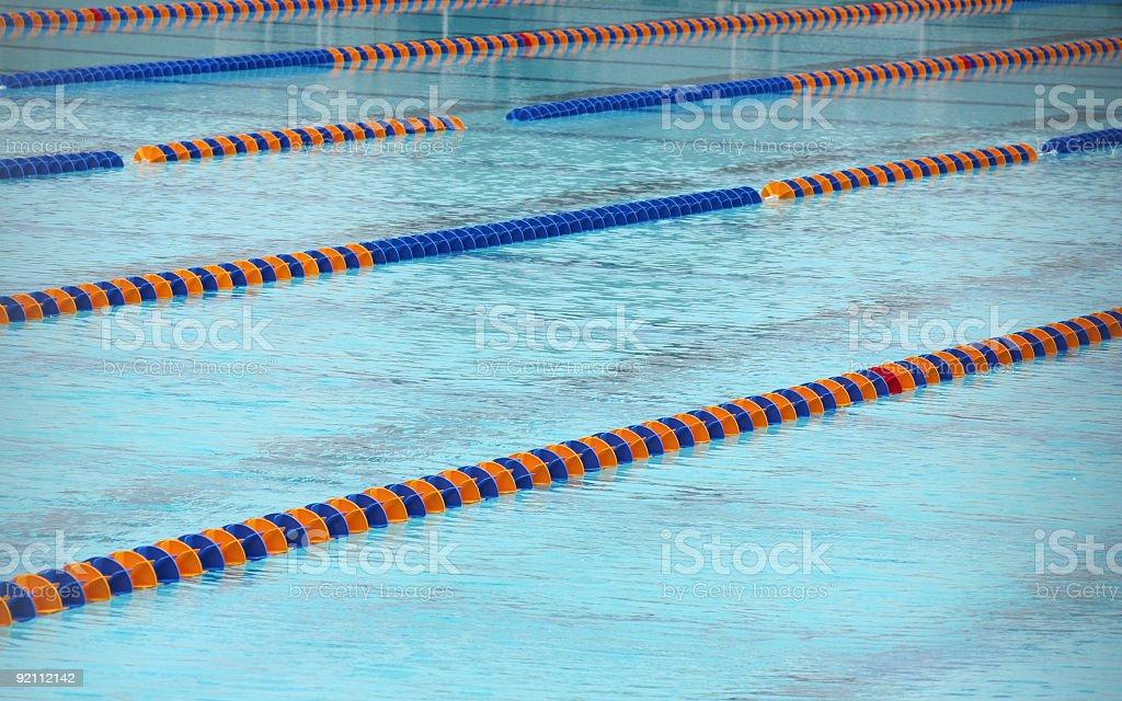Athletic pool royalty-free stock photo