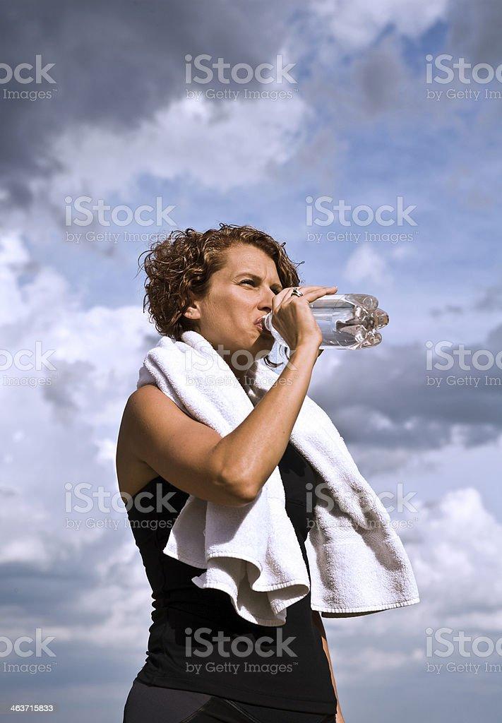 Athletic refreshment royalty-free stock photo