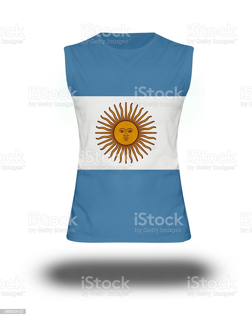 athletic shirt with Argentina  flag on white background and shadow - foto de stock