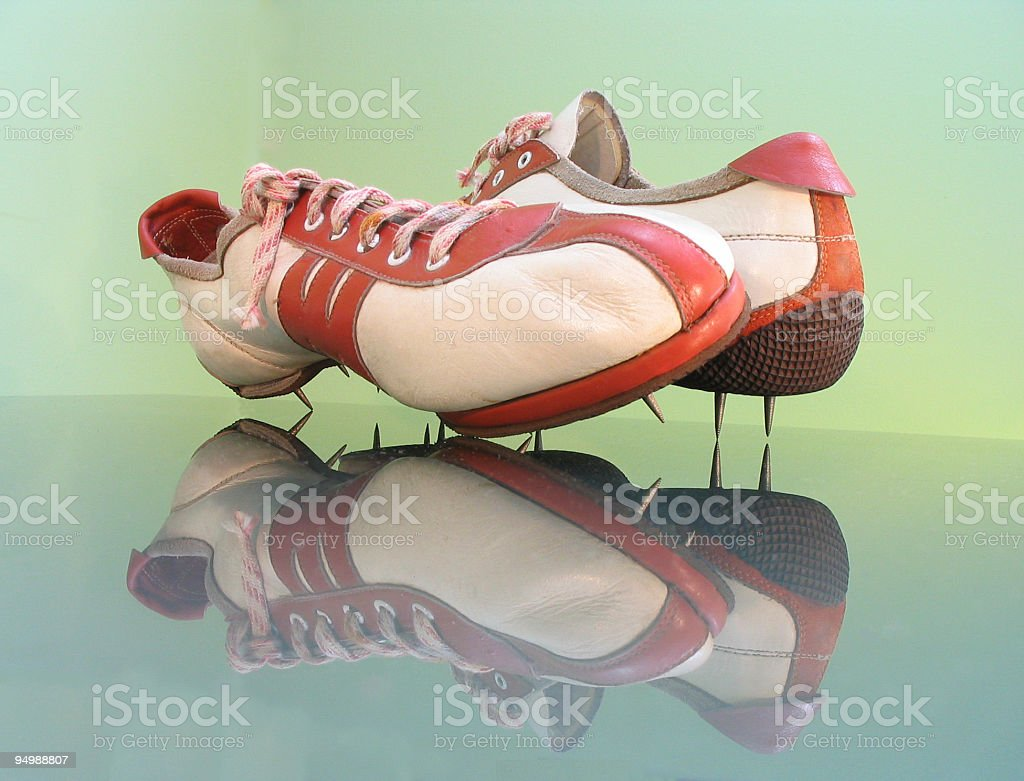 Athletic shoes stock photo