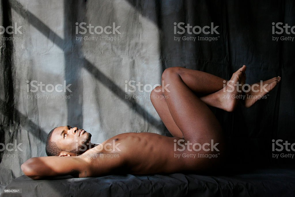 Athletic Stretches royalty-free stock photo