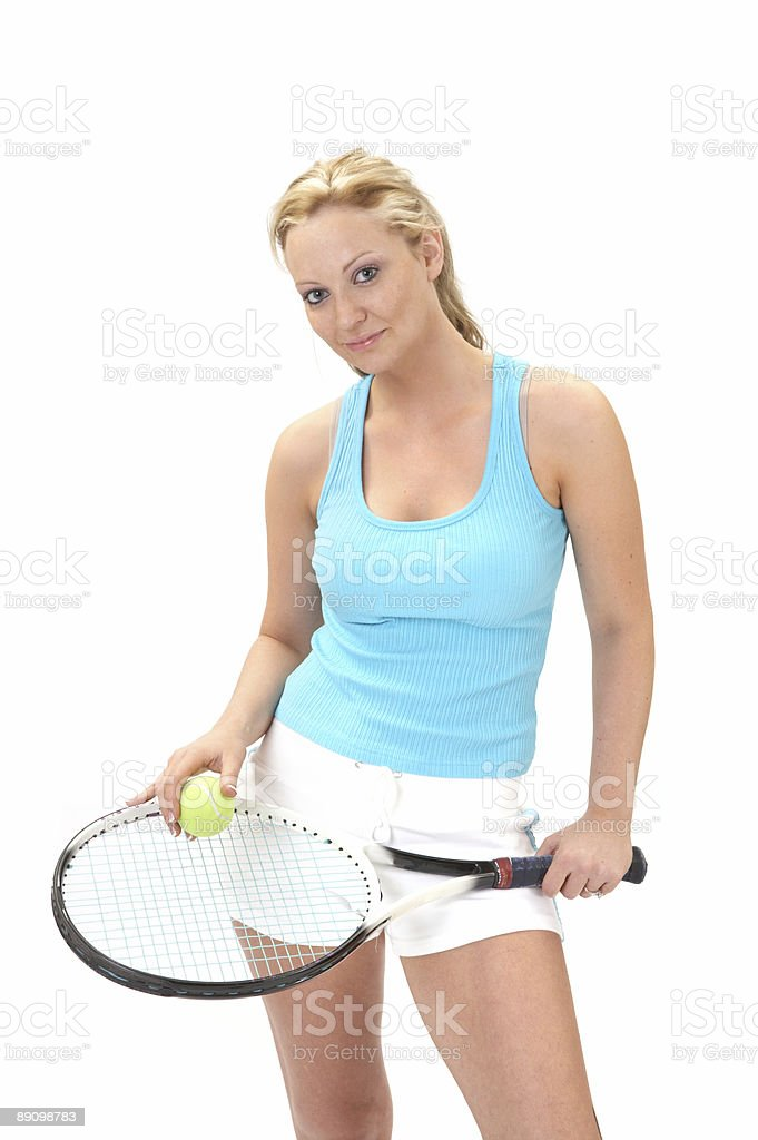 Athletic tennis player royalty-free stock photo