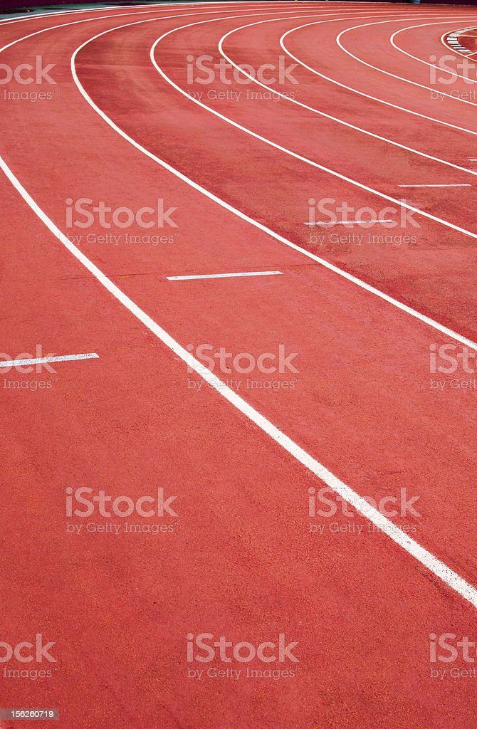 athletic track royalty-free stock photo