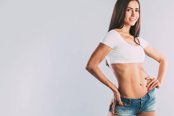 Athletic woman. stock photo