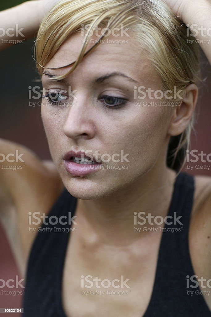 Athletic woman royalty-free stock photo