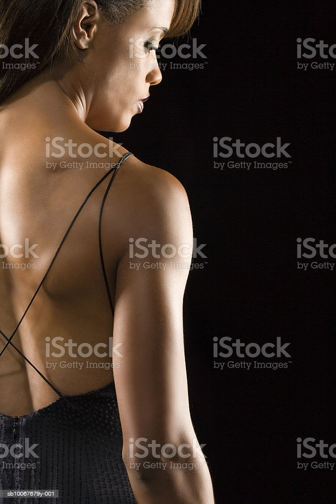Athletic woman, studio shot royalty-free stock photo