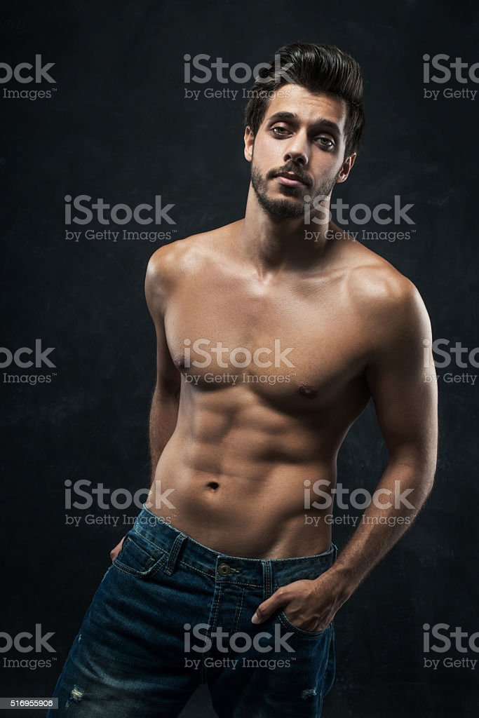 Athletic young man stock photo