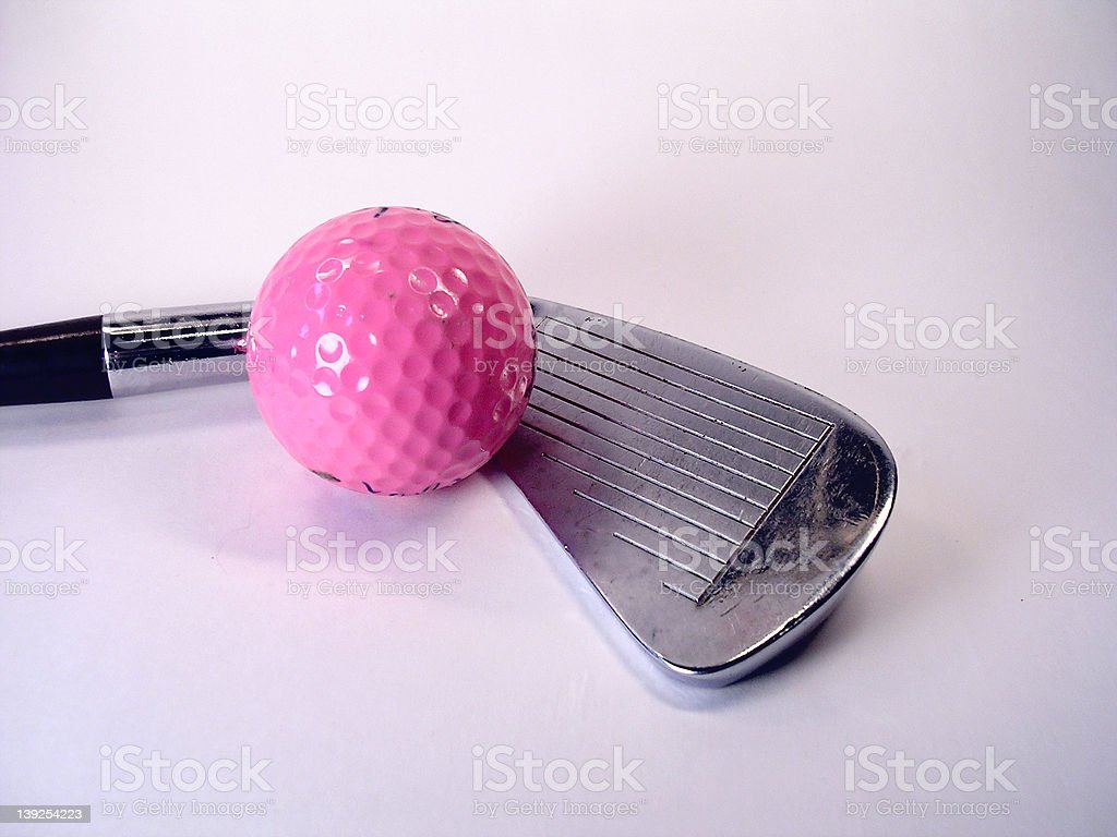 Athletics -  Ball and Club (pink) stock photo