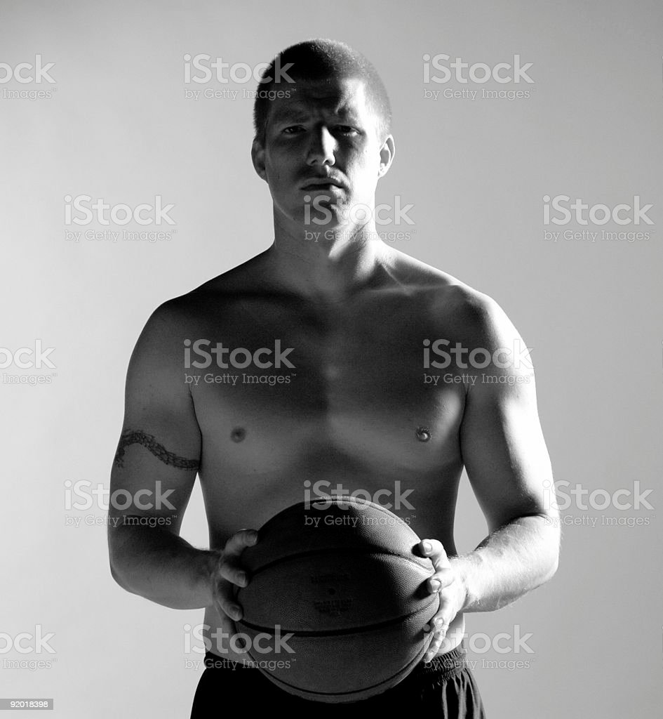 Athletics - Basketball player royalty-free stock photo