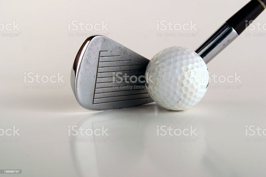 Athletics - Golf Club and Ball royalty-free stock photo