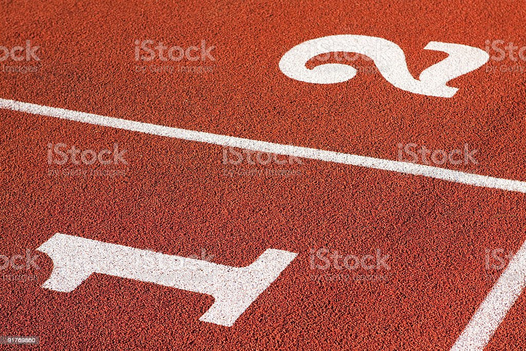 Athletics Running Track Positions royalty-free stock photo
