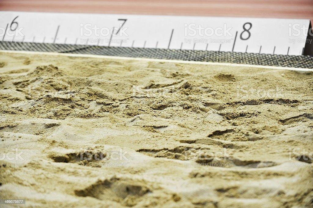 Athletics sand pit stock photo