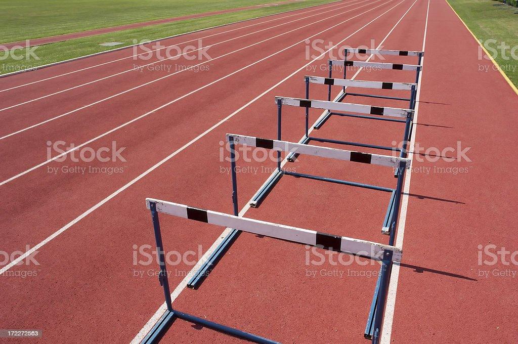 Athletics stadium lines royalty-free stock photo