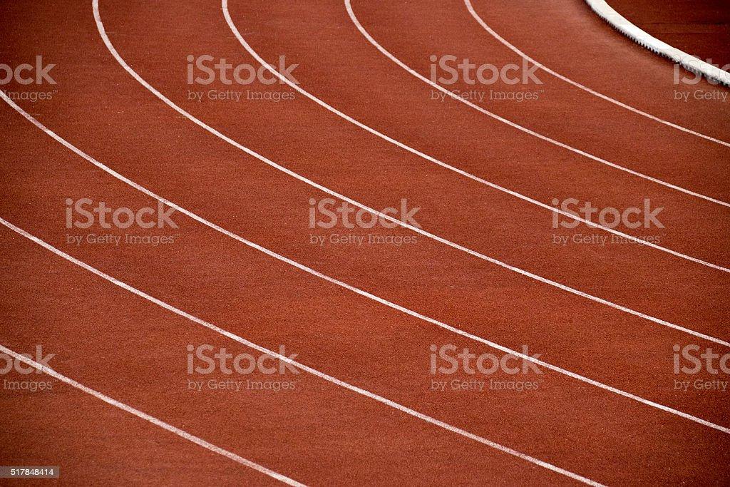 Athletics Stadium Running track curve in Sport Stadium