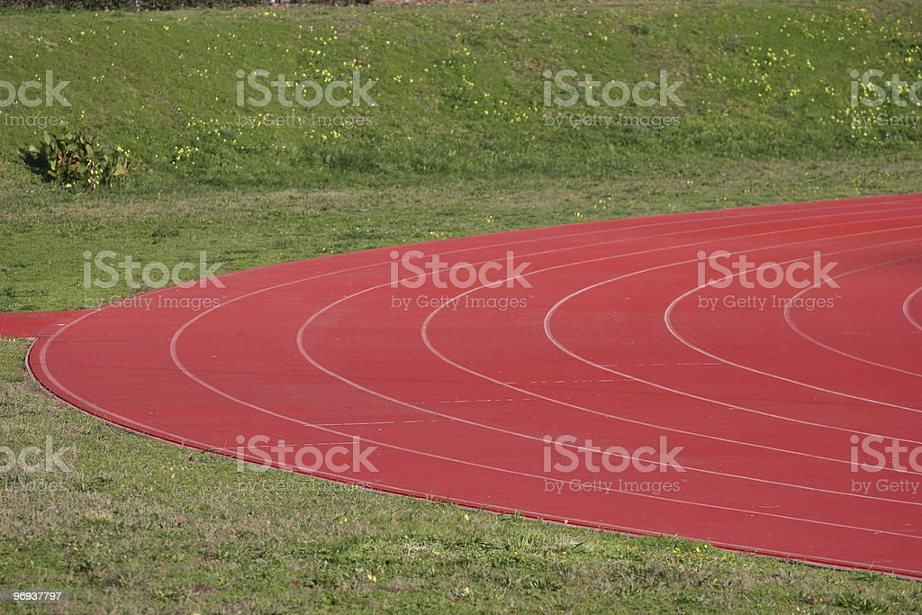 Athletics Track in Perspective royalty-free stock photo