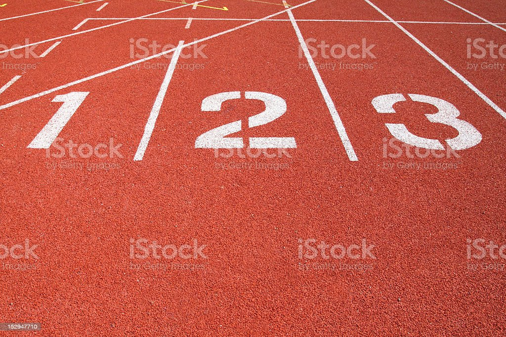 Athletics Track Lane royalty-free stock photo