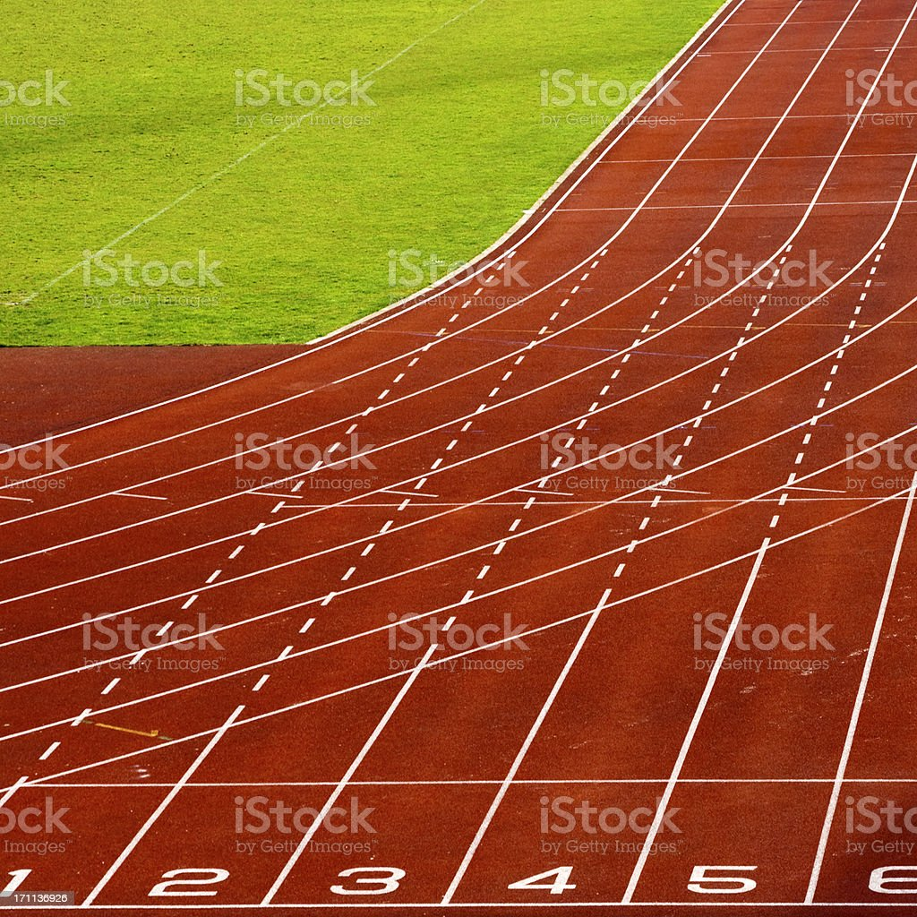 Athletics tracks royalty-free stock photo