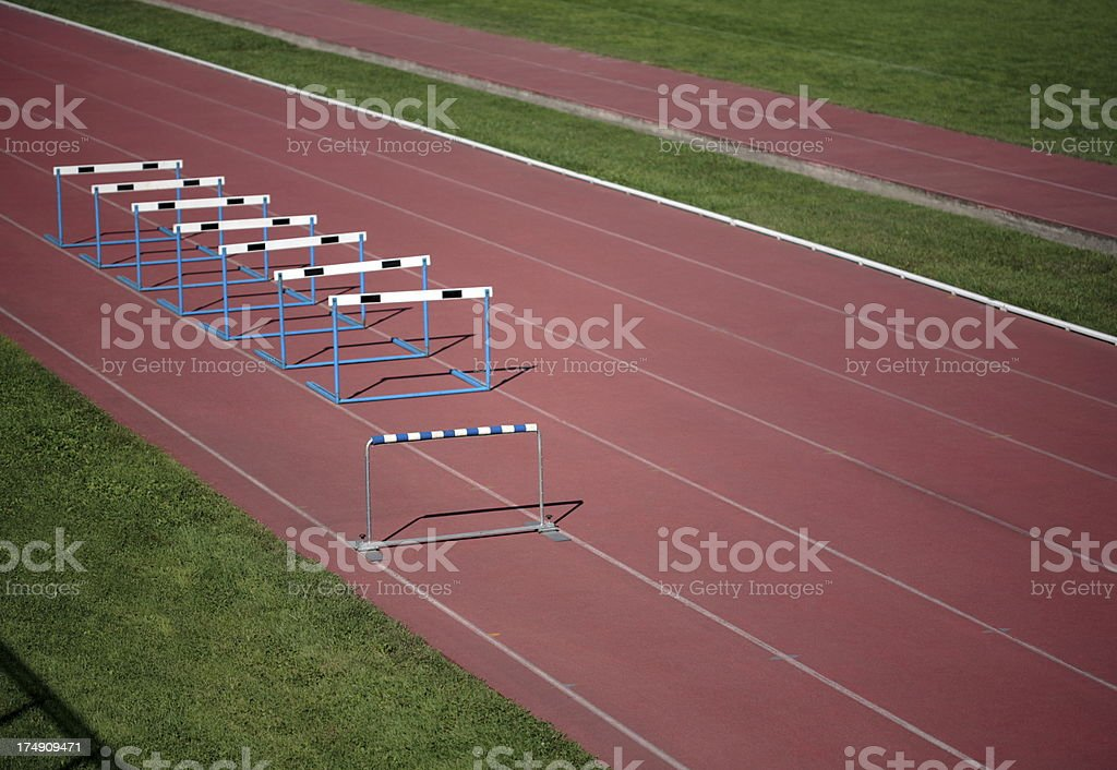 atletismo con obstaculos royalty-free stock photo