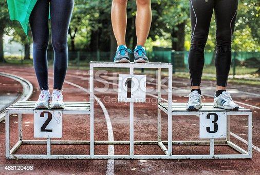 istock Athlets on Podium 468120496
