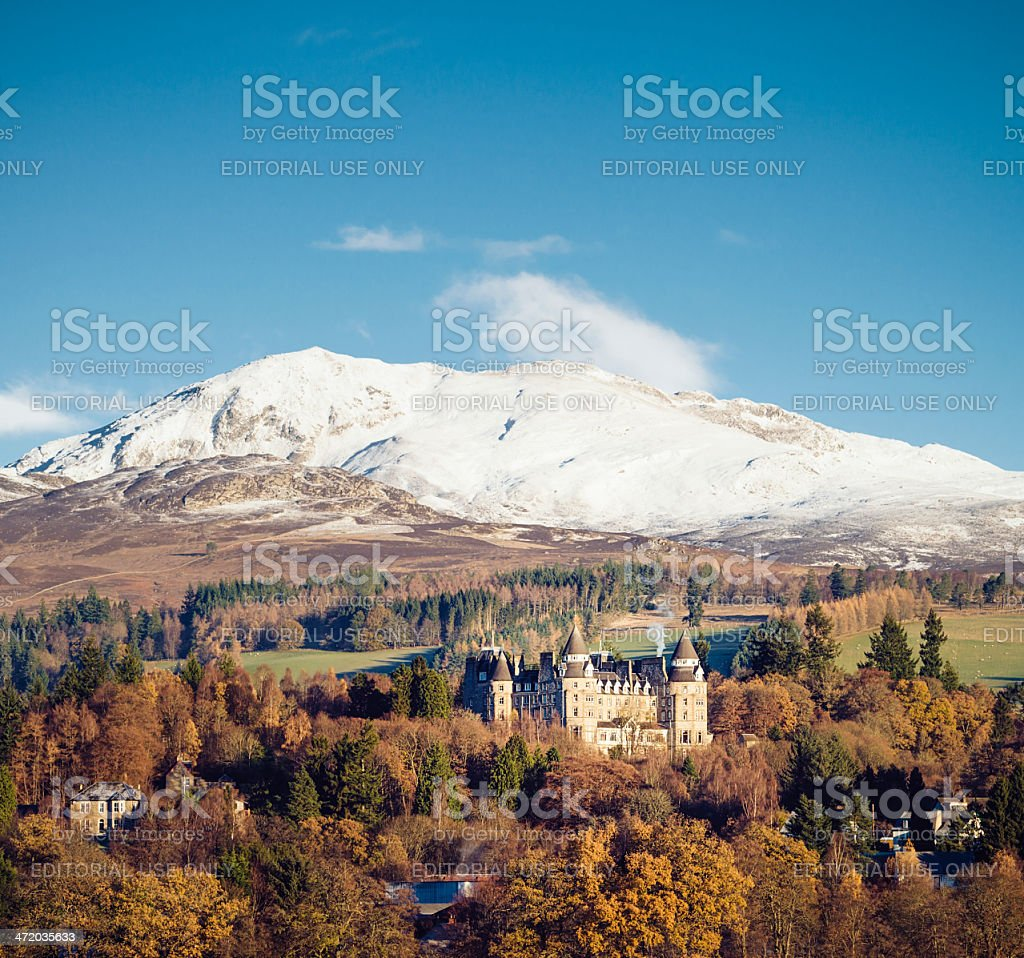 Atholl Palace Hotel in the Perthshire landscape stock photo