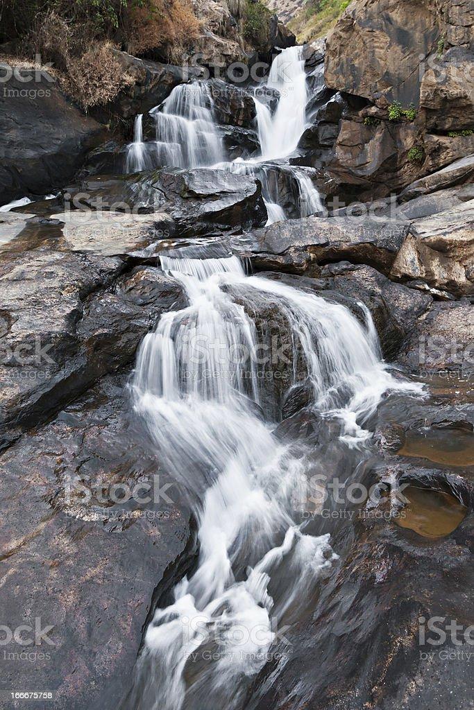 Athukadu waterfall royalty-free stock photo