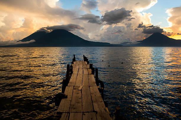Atitlan Lake stock photo