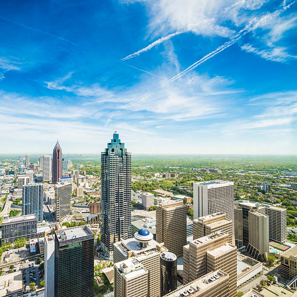 Atlanta Aerial View stock photo