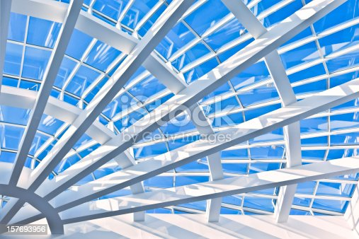 Architectural detail of Atlanta public building.