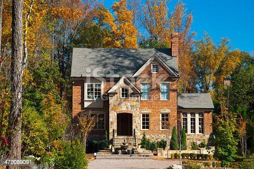 istock Atlanta brick house in a woods like setting 472069091